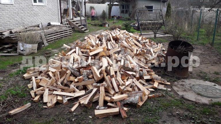 10 м³ берёзовых дров в СНТ Ядрошино,  Истринский р-н