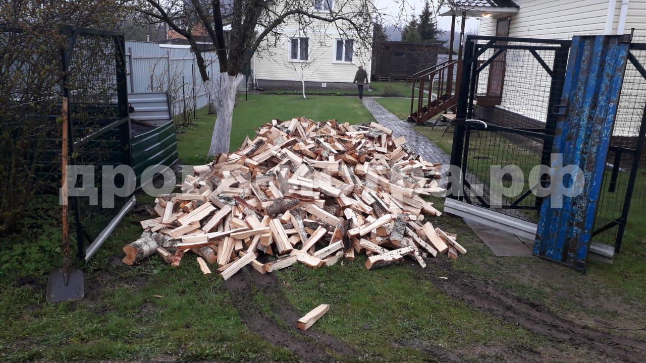 5 м³ берёзовых дров в д. Скрябино, Истринский р-н