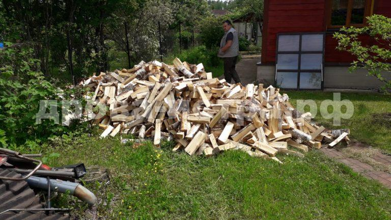 5 м³ берёзовых дров в СНТ Родина, г.о. Истра