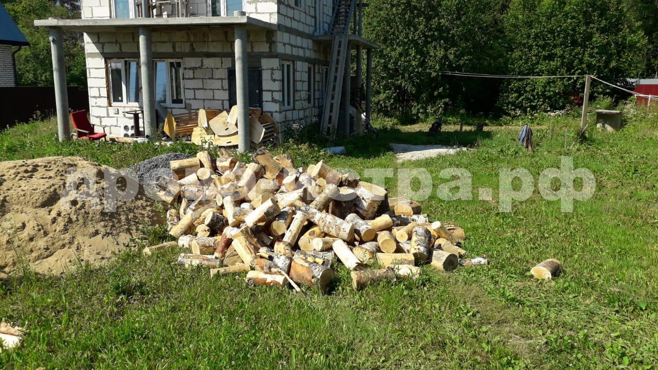 5 м³ берёзовых пеньков в дп. Снегири, г.о. Истра