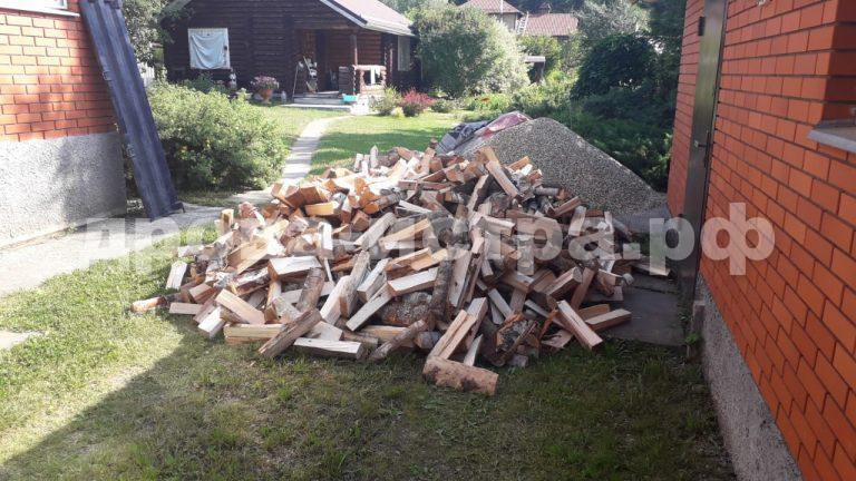 4 м³ берёзовых дров в д. Сафонтьево, г.о. Истра