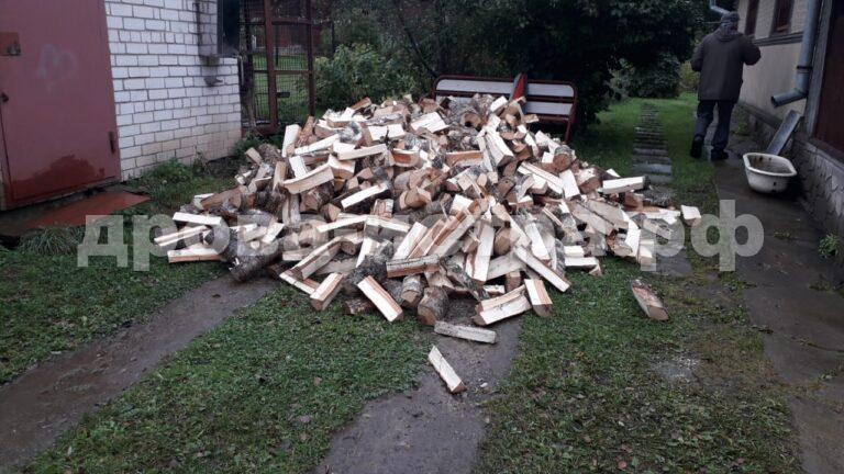 4 м³ берёзовых дров в д. Качаброво, г.о. Истра