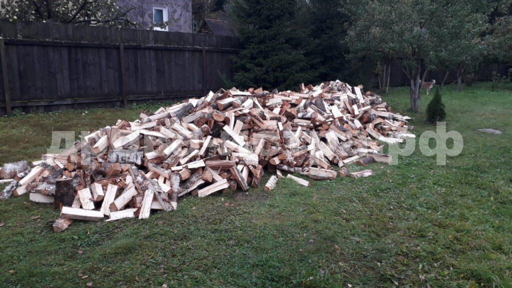 10 м³ берёзовых дров в СНТ Родничок, г.о. Истра