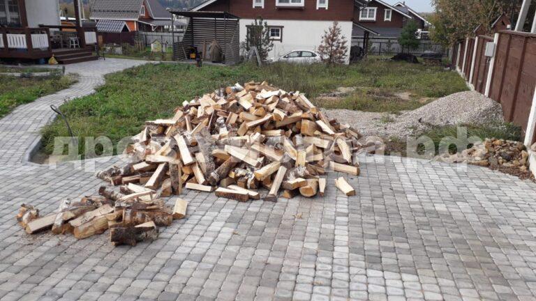 4 м³ берёзовых дров в д. Бужарово, г.о. Истра